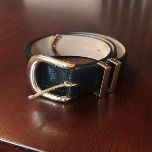 Ann Taylor black leather belt